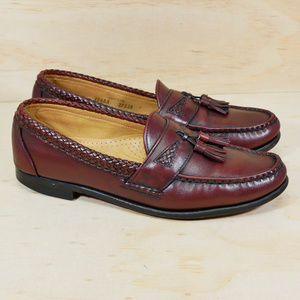 Allen Edmonds Maxfield Burgundy Leather Sz 10.5 AA